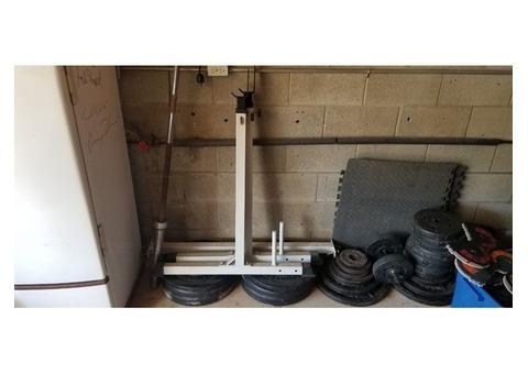 Adjustable bench/squat rack